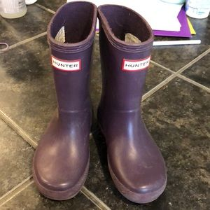 Hunter purple toddler boots